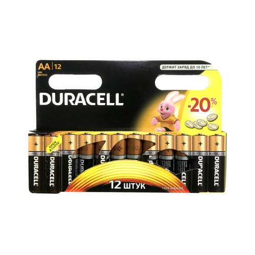Батарейки LR6 AA DURACELL 12шт.