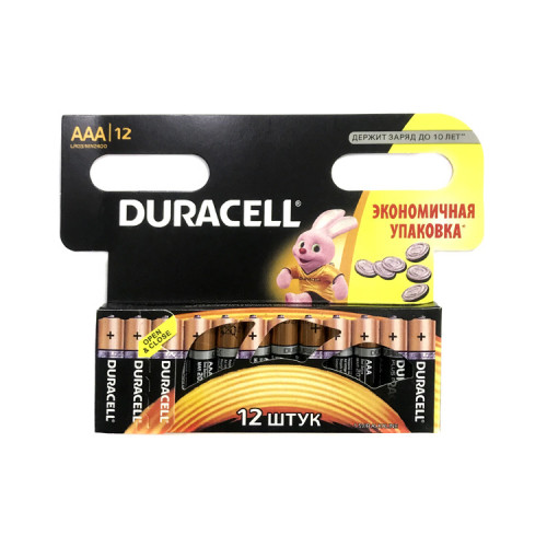 Батарейки LR03 AAA DURACELL 12шт.