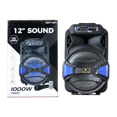 Портативная колонка ALP-1201 с микрофоном + пульт ДУ черный
