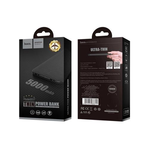 Внешний аккумулятор B37 5000mAh черный HOCO