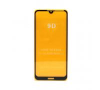 Защитное стекло 3D для Huawei Y7 2019 черный (техпак)