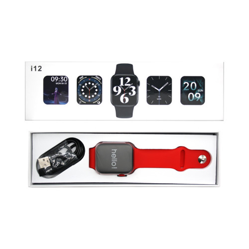 Смарт-часы i12 (44mm) красный SERIES 6
