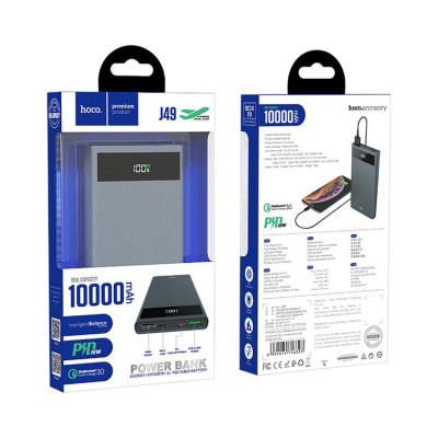 Внешний аккумулятор J49 QC3.0 10000mAh серый HOCO