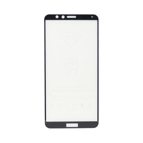 Защитное стекло 3D для Huawei Honor 7X черный (техпак)