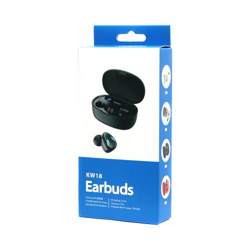 Беспроводные наушники KW18 черный EARBUDS