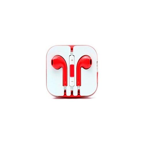 Наушники с микрофоном E-Pods красный
