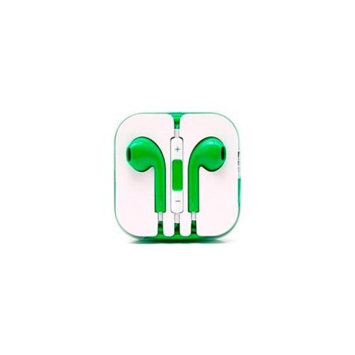 Наушники с микрофоном E-Pods зеленый