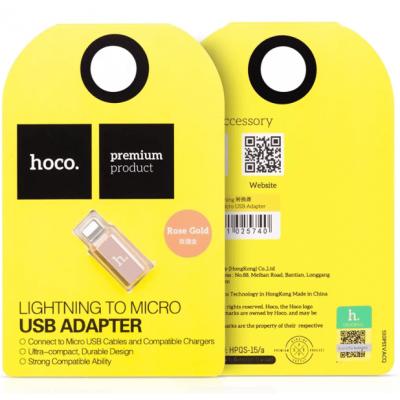 Адаптер OTG Micro USB - Lightning HOCO