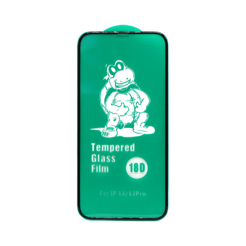 """Защитное стекло 18D для Apple iPhone 12/12 Pro 6.1"""" рамка черный (техпак)"""