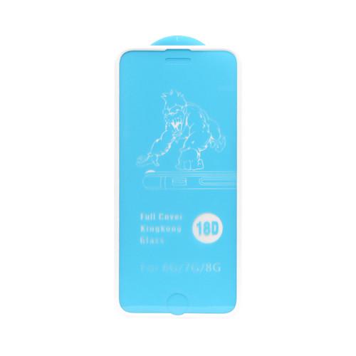 Защитное стекло 18D для Apple iPhone 6/7/8 рамка белый