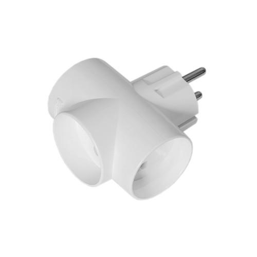 Разветвитель электрический 3T16 (без заземления) белый TOKER