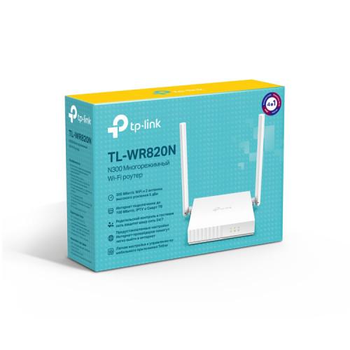 WI-FI роутер TL-WR820N N300 10/100BASE-TX белый TP-Link