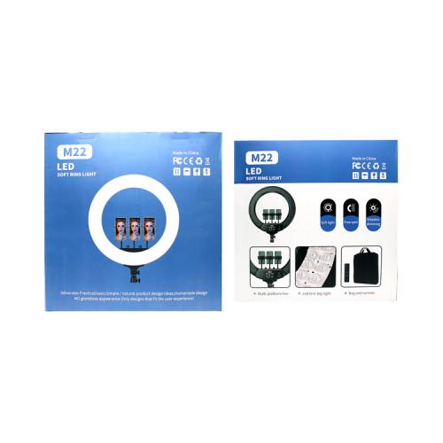 Кольцевая лампа M22 (54см) с держателями + пульт ДУ LED SRL