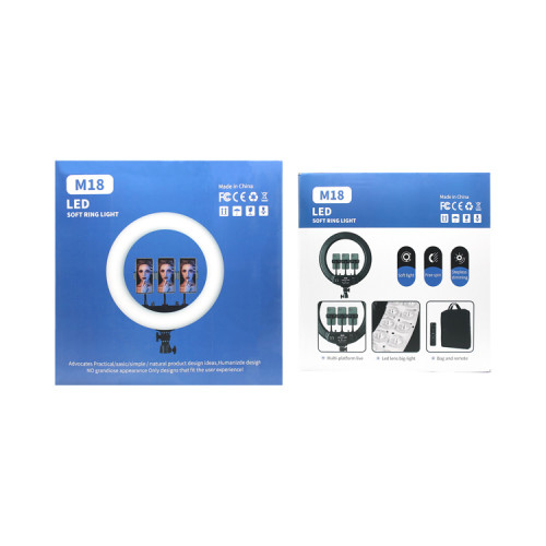 Кольцевая лампа M18 (46см) с держателями + пульт ДУ LED SRL