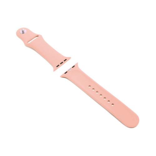 Ремешок силиконовый для Apple Watch 42-44mm персиковый