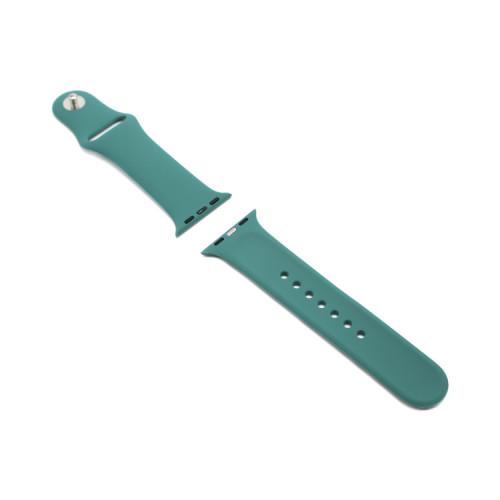 Ремешок силиконовый для Apple Watch 38-40Smm серо-мятный