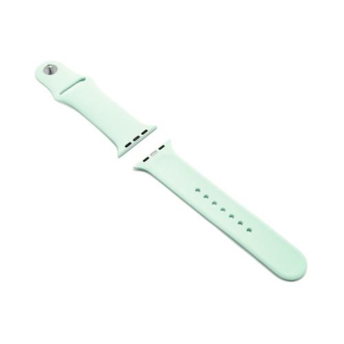 Ремешок силиконовый для Apple Watch 42-44mm нежно-мятный