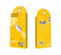 Адаптер OTG USB - Micro USB UA10 серебристый HOCO