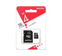 MicroSDHC 4GB Class 10 SMARTBUY