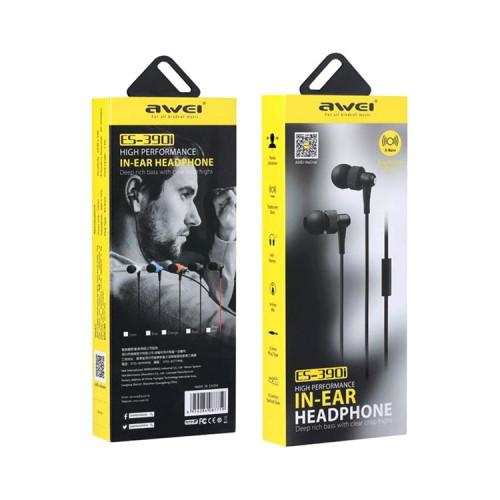 Наушники с микрофоном ES-390i черный AWEI